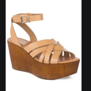 NWT!! Seychelles high and low wedge